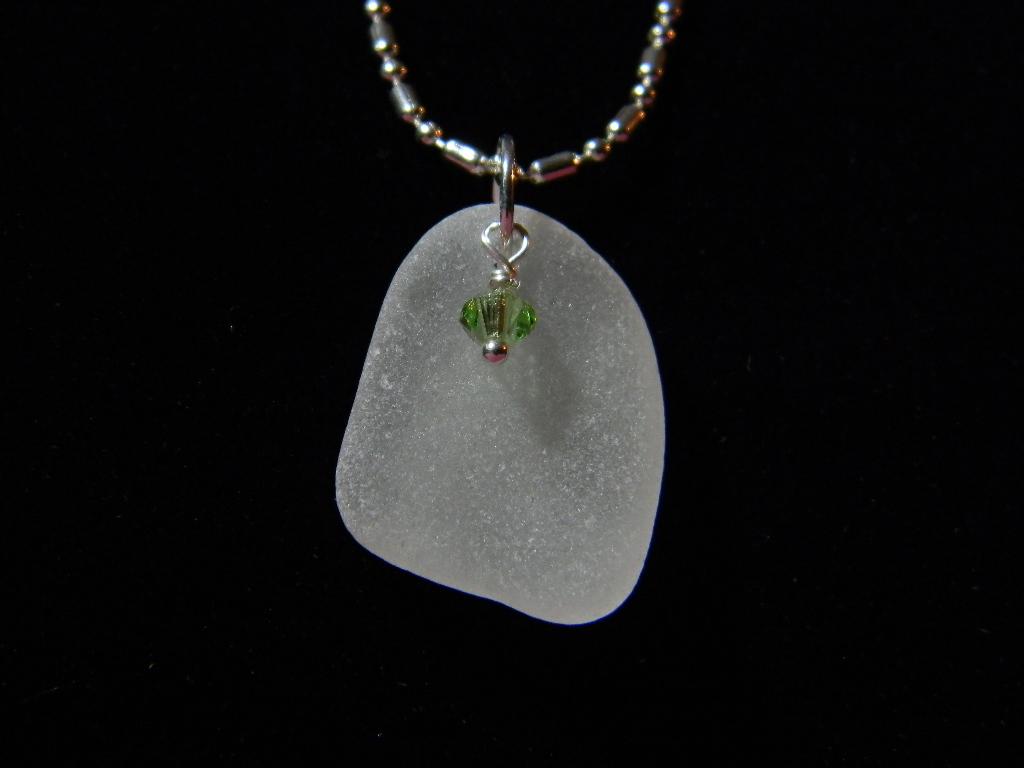 White & Peridot Swarvoski Crystal