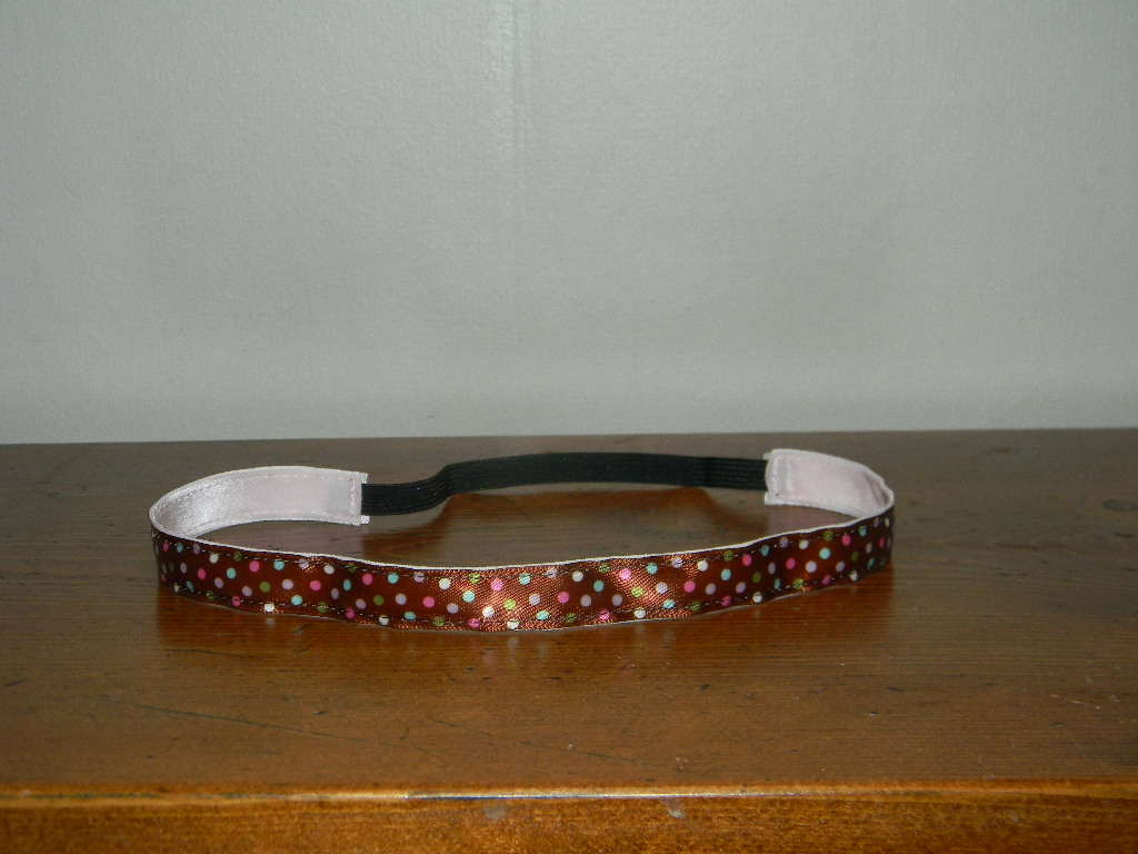 Brown & Multi Polka Dots NO SLIP Headband