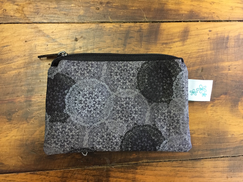 Gray Medallion Coin Purse