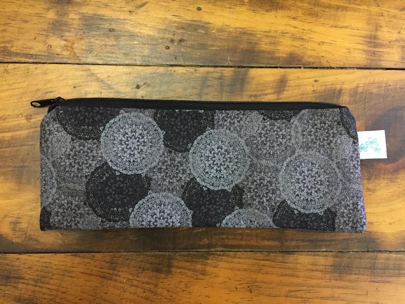 Gray Medallion Pencil Case