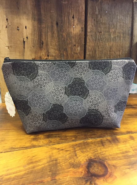 Gray Medallion Makeup Bag