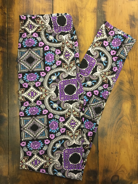 Purple Mix Leggings {one size}