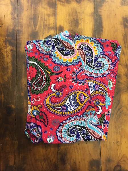 Bright Paisley Capri Leggings {one size}