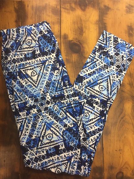 Blue Tie-Dye Leggings {plus size}