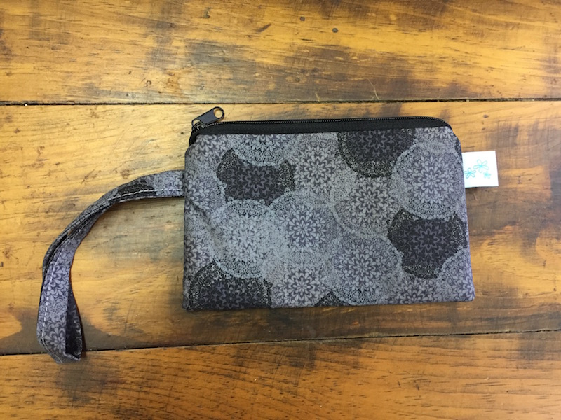 Gray Medallion Small Wristlet