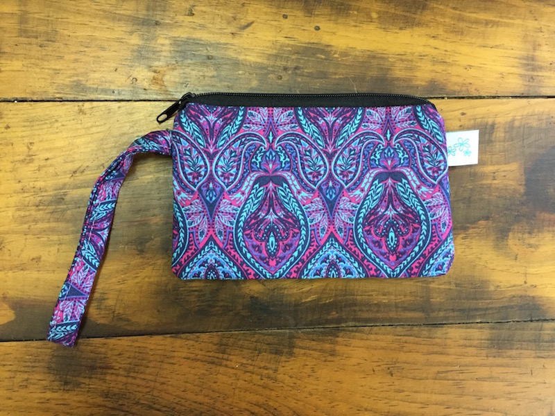 Jewel Tone Peacock Small Wristlet