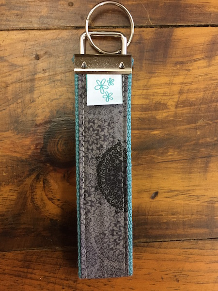 Gray Medallion Key Fob