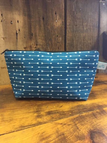 Teal Arrows Makeup Bag