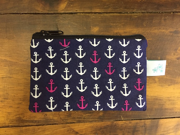 Navy with Anchors Coin Purse