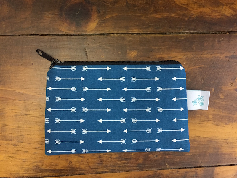 Teal Arrows Coin Purse