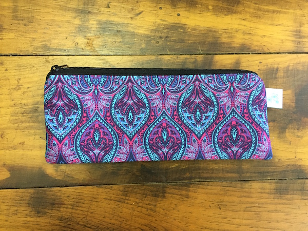 Jewel Tone Peacock Pencil Case
