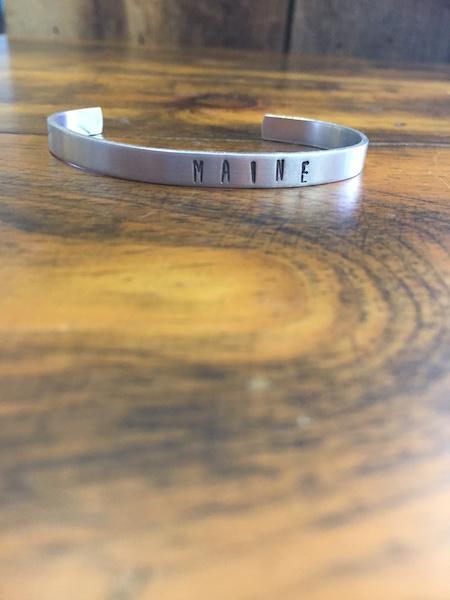 Maine Stamped Bracelet