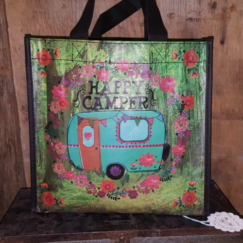 Happy Camper Reusable Tote Bag