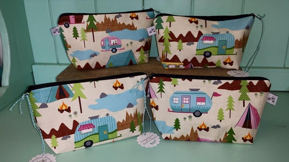 Happy Camper Makeup Bag-happy camper, camping, glamping, tenting, retro, camp, campfires